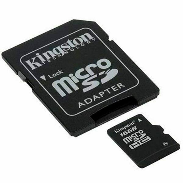 Tarjeta Memoria Micro SD con Adapt. x16 GB Kingston (Clase 10)