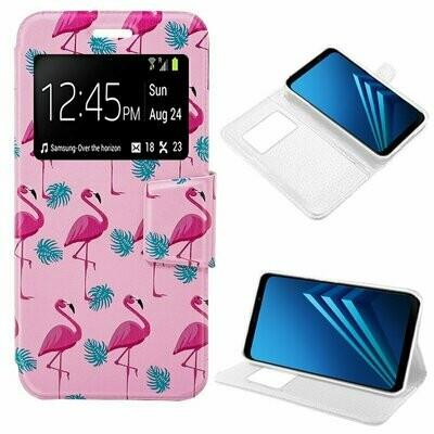 Funda COOL Flip Cover para Samsung A530 Galaxy A8 (2018) Dibujos Flamencos