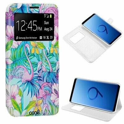 Funda COOL Flip Cover para Samsung G960 Galaxy S9 Dibujos Flamencos