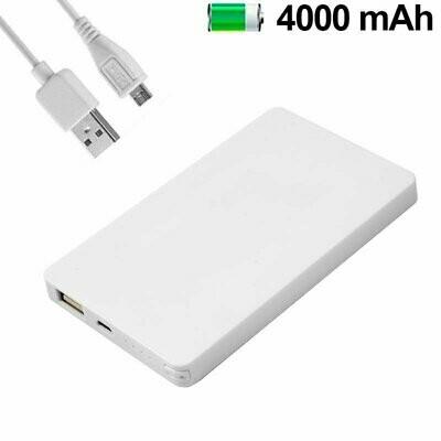 Bateria Externa Micro-usb Power Bank 4000 mAh Colour Basic Blanco COOL