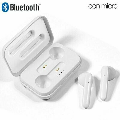 Auriculares Stereo Bluetooth Dual Pod COOL STYLE Blanco