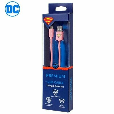 Cable USB Licencia DC Superman Lightning iPhone 6 / 7 / 8 / X / XR