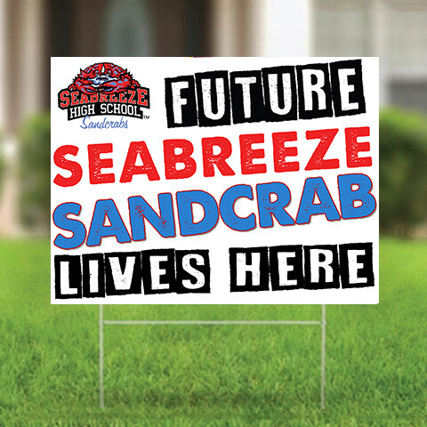 Future Sandcrab Yard Sign - Seabreeze