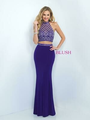 Blush Prom dress color Purple 11073 size 4