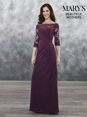 Beautiful Mother of the bride dress MB8025  in COLOR MOCHA size 16