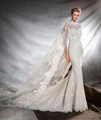 Pronovias Lace Bridal Cape ONLY