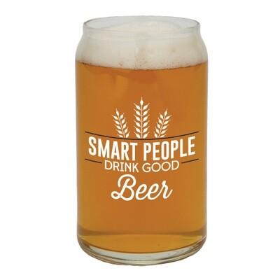 Smart people beer glass