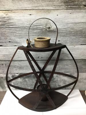 Lg Rustic Strap Lantern