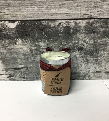 Champagne Tin Candle
