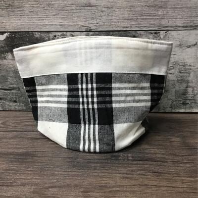 Bread Bag Checkered Black & White