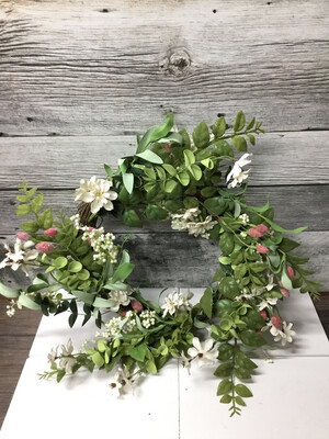 Jasmine And Pussy Willow Wreath 24