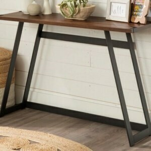 (118) Rustic Console Table