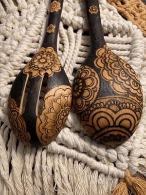 (130) Shaded Mandala Spoons