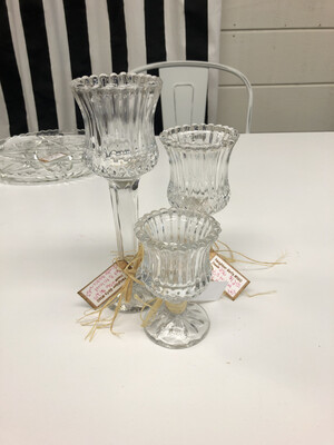 256 Tri Level Glass Candle Holder