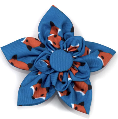 76 Fox Pinwheel Bow- Dog