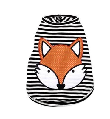 78 Fox Striped Tee- Dog Sz S