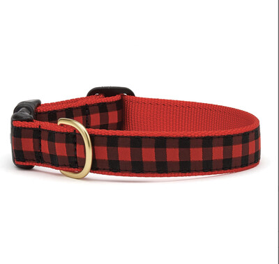 87 Buffalo Check Collar- Dog S Wide