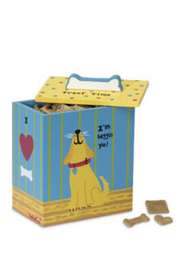96 Hand Painted Collection - Yellow Dog Treat Box