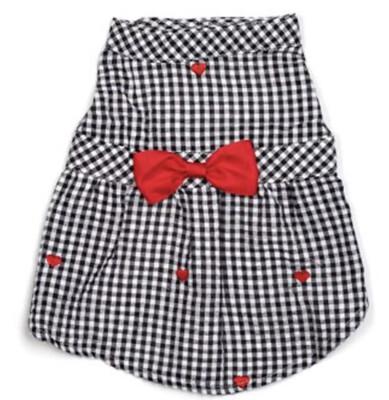 79 Gingham Hearts Dress- Dog Xs