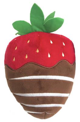 74 Chocolate Strawberry Plush- Dog Toy