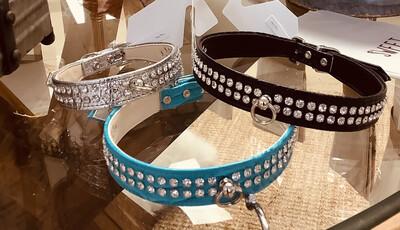 703 Glam Collar- Turq 18