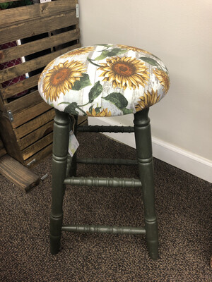 (31) Stool - Floral upholstered