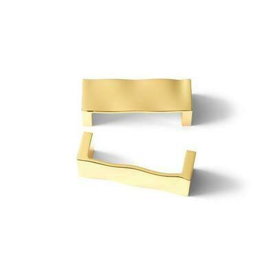MICHAEL ARAM RIPPLE GOLD TONE CABINET PULL 3.875″ CC