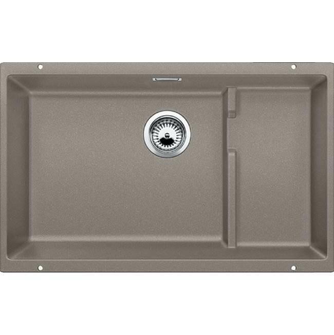 Blanco Precis Cascade Super Single Bowl Kitchen Sink - Truffle