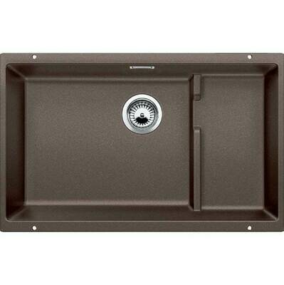 Blanco Precis Cascade Super Single Bowl Kitchen Sink - Cafe Brown