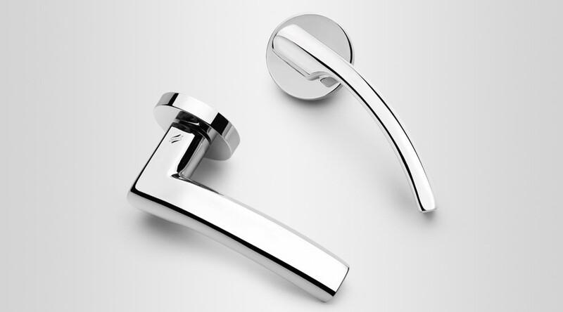 Colombo Design Door Lever OLLY Handle LC61NA-Key Lock/Dead Bolt