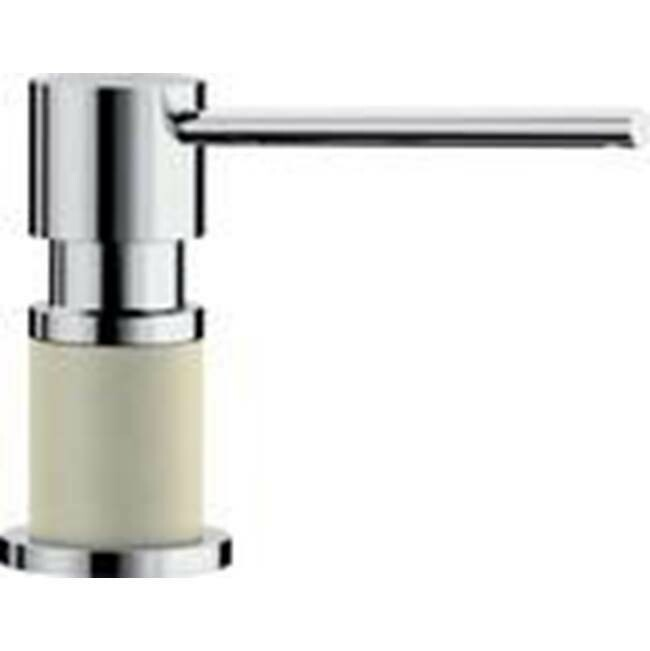 Blanco Lato Soap Dispenser - Biscuit/Chrome Dual Finish