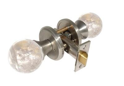 Gemstone Hardware Door Knob Crystal Quartz Satin Stainless Steel Pull (Dummy)