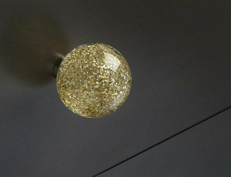 Deco & Deco Decorative Cabinet Knobs Italian Hand-made Murano Glass Cabinet Knobs Gold