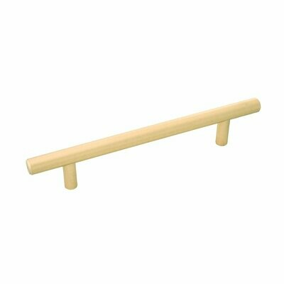 Belwith-Keeler Cabinet Hardware  Contemporary Bar Pulls Collection Pull 128 Millimeter Center to Center Royal Brass Finish