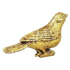 Charleston Knob Company  VINTAGE GOLD BIRD CABINET KNOB 2.25