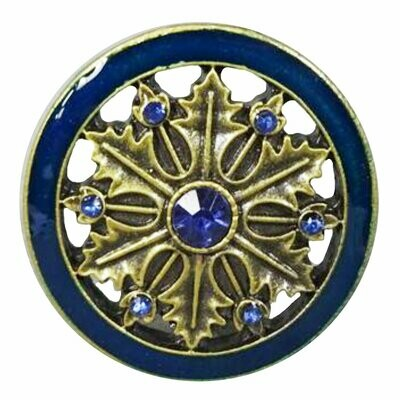 Charleston Knob Company  GOLD AND BLUE CLOISONNE JEWEL CABINET KNOB