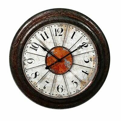 Charleston Knob Company ANTIQUE CLOCK FACE IRON CABINET KNOB