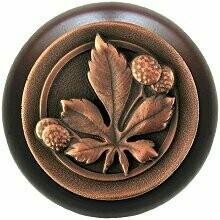 Notting Hill Cabinet Hardware Knob Chestnut/Dark Walnut Antique Copper 1-1/2