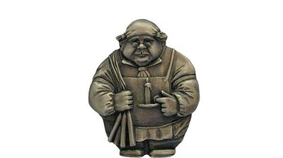 Notting Hill Cabinet Hardware Candlestick Maker Antique Brass Magnet 1-1/2 w x  1-3/4