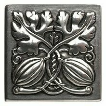 Notting Hill Cabinet Knob Autumn Squash Brilliant Pewter 1-1/2