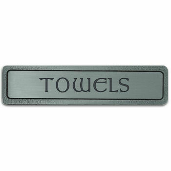 Notting Hill Cabinet Pull TOWELS (Horizontal) Antique Pewter 4