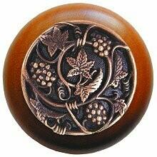 Notting Hill Cabinet Knob Grapevines/Cherry Antique Copper 1-1/2
