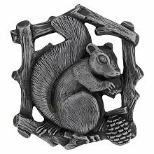 Notting Hill Cabinet Knob Grey Squirrel (Left side/faces right) Antique Pewter  1-1/2
