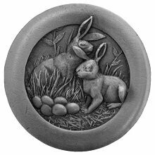 Notting Hill Cabinet Hardware Rabbits  Antique Pewter 1-3/8