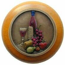 Notting Hill Cabinet Hardware Best Cellar (Wine)/Maple Brass Hand Tinted 1-1/2