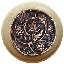 Notting Hill Cabinet Knob Grapevines/Natural Antique Copper 1-1/2