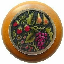 Notting Hill Cabinet Knob Tuscan Bounty/Maple Brass Hand Tinted  1-1/2