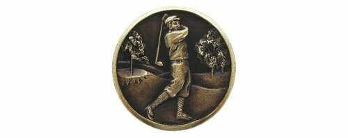 Notting Hill Cabinet Knob Gentleman Golfer Antique Brass  1-1/8