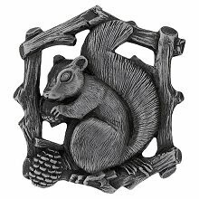 Notting Hill Cabinet Knob Grey Squirrel (Right side/faces left) Antique Pewter  1-1/2