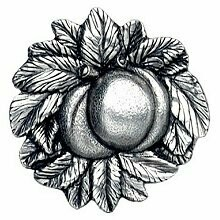 Notting Hill Cabinet Knob Georgia Peach Brilliant Pewter 1-5/8